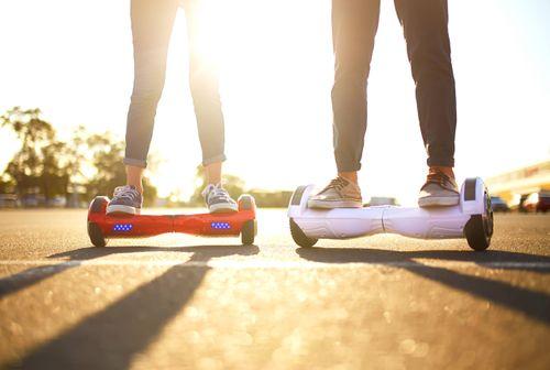 small_Close Up of Dual Wheel Self Balancing Electric Skateboard